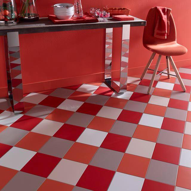 Sols notre s lection de carrelages pour votre cuisine for Carrelage sol couleur orange