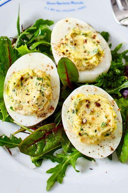 Photo of Gefüllte Eier mit Ziegenfrischkäse Rezept KÖSTLICH