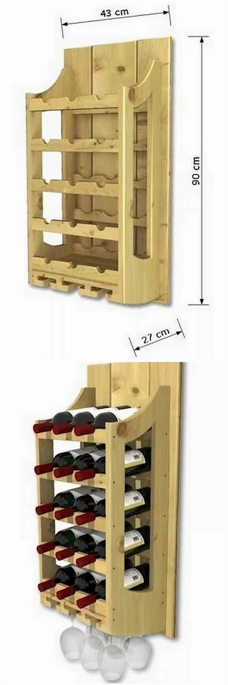 Interesting DIY Wood Pallet Projects and Ideas | Wine rack design ...