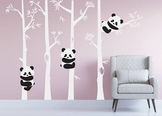Chambre De Bebe Panda Ours Arbre Mur Chambre D Enfant Sticker Art