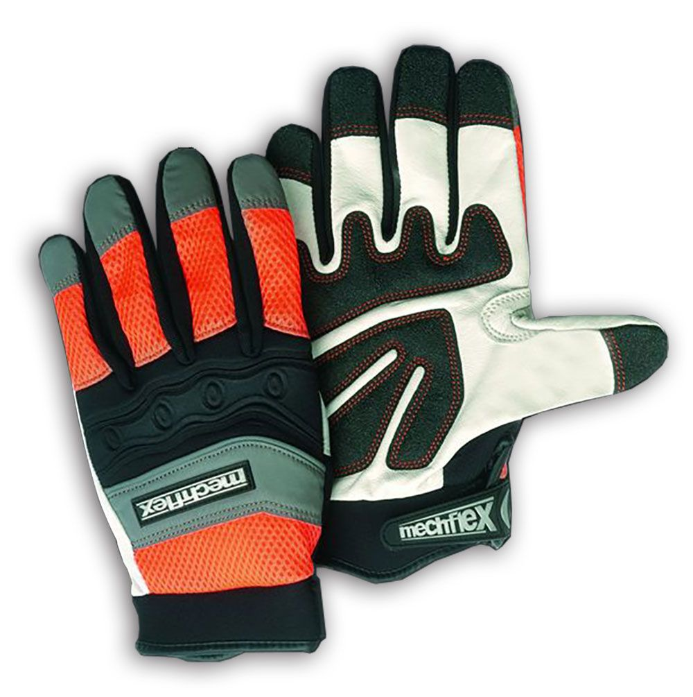 Fingerless gloves bunnings - We Construct Our High Visibility Gloves From Genuine Goat Grain Leather And Neoprene For The