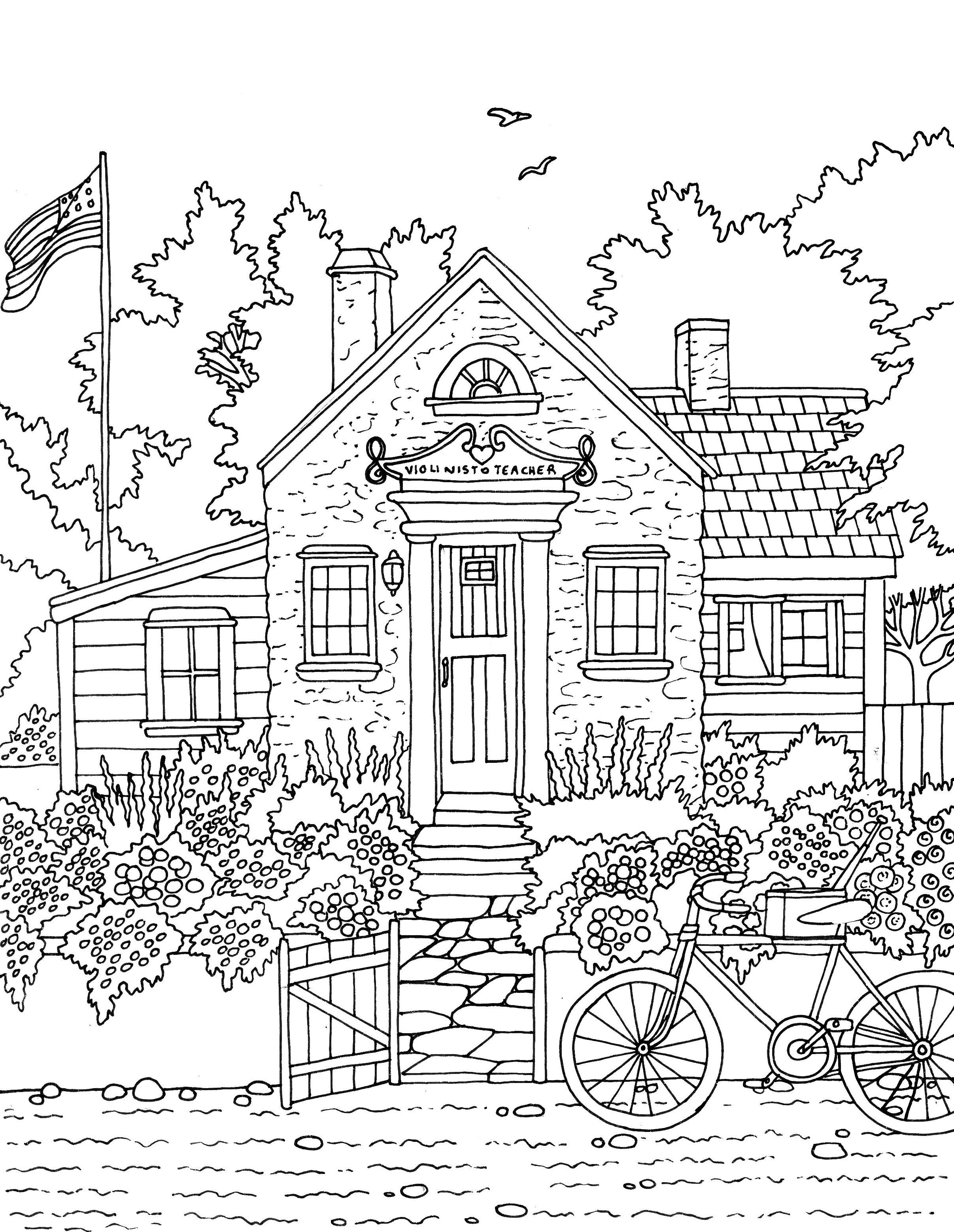 Pin On Little Sweet Towns Adult Coloring Book