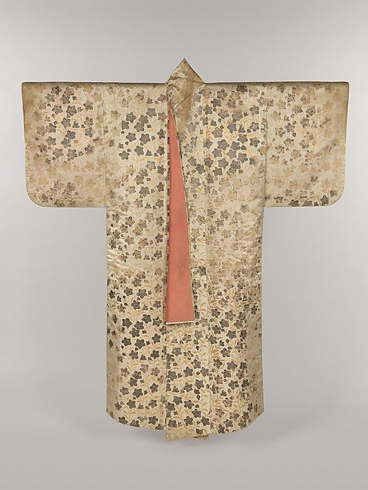 Noh Costume (Surihaku) with Chinese Bellflowers  Period: Edo period (1615–1868) Date: 18th century Culture: Japan Medium: Gold and silver leaf on silk satin