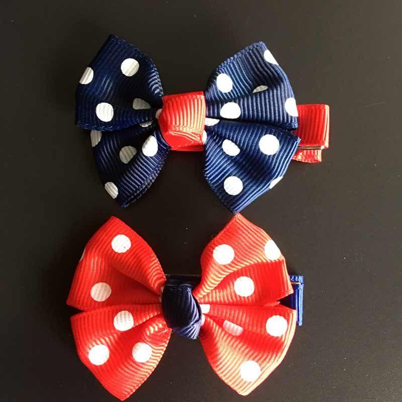 Tiny Bowknot Dot  Plaid Cute Hairpins Hair Clips  Barrettes  Children Headwear