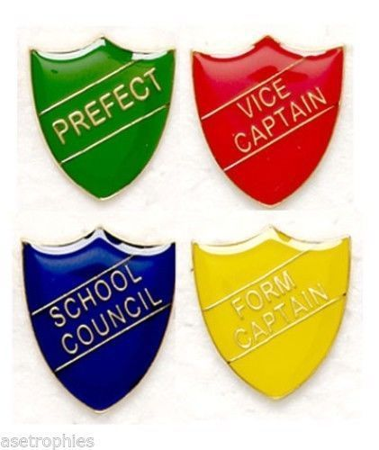 HEAD GIRL CAPTAIN VICE CAPTAIN ACHIEVEMENT HEAD BOY PREFECT ENAMEL SCHOOL BADGE
