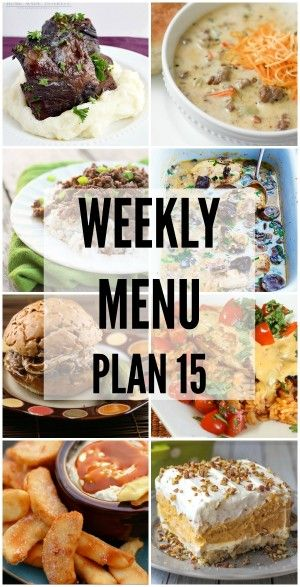 We've put together a WEEKLY MEAL PLAN to make your week a bit easier! We've got dinner planned so you don't have to worry!