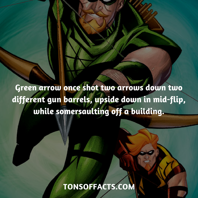 green arrow once shot two arrows down two different gun barrels