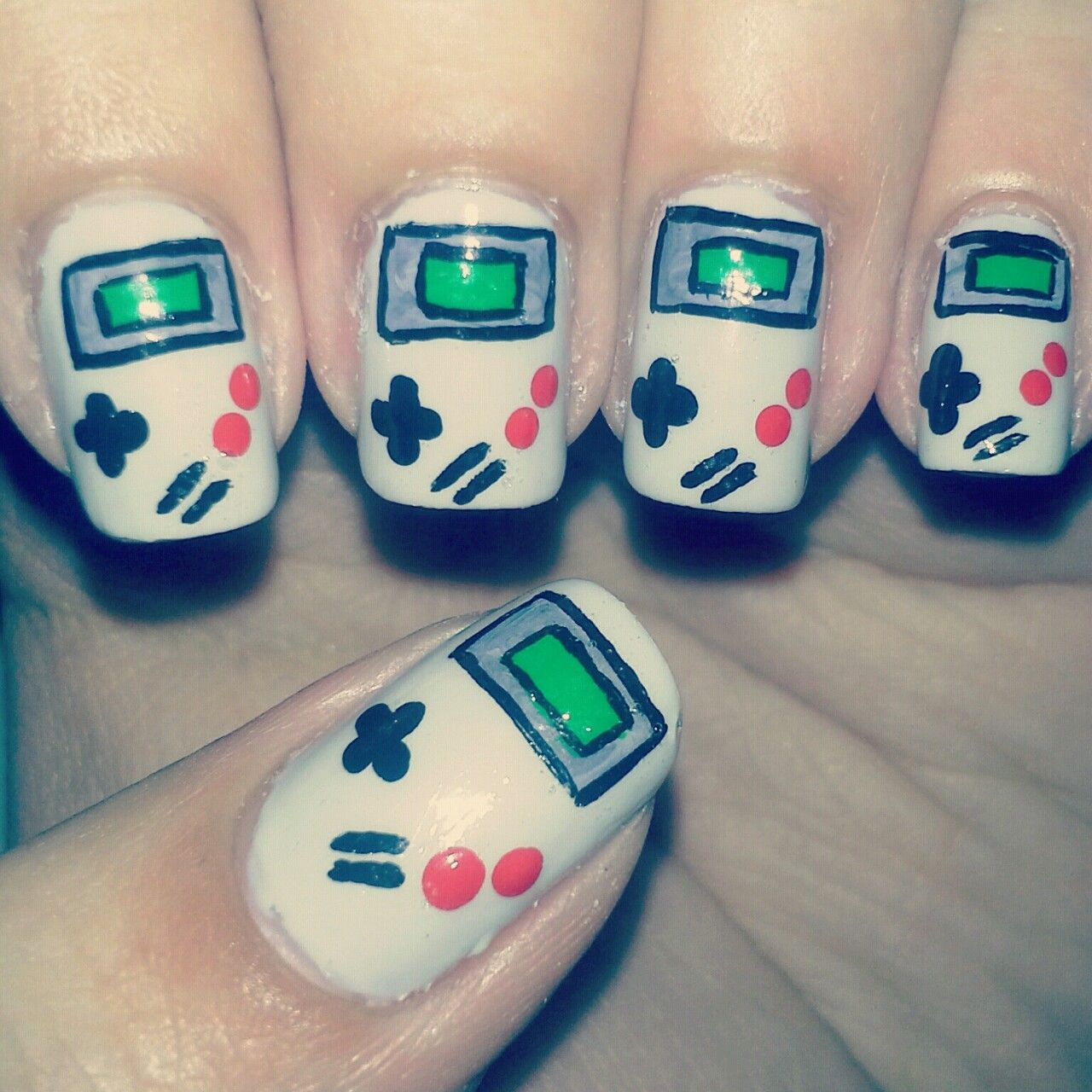 Gameboy Nails Nintendo Gaming Nintendo Gameboy Pinterest