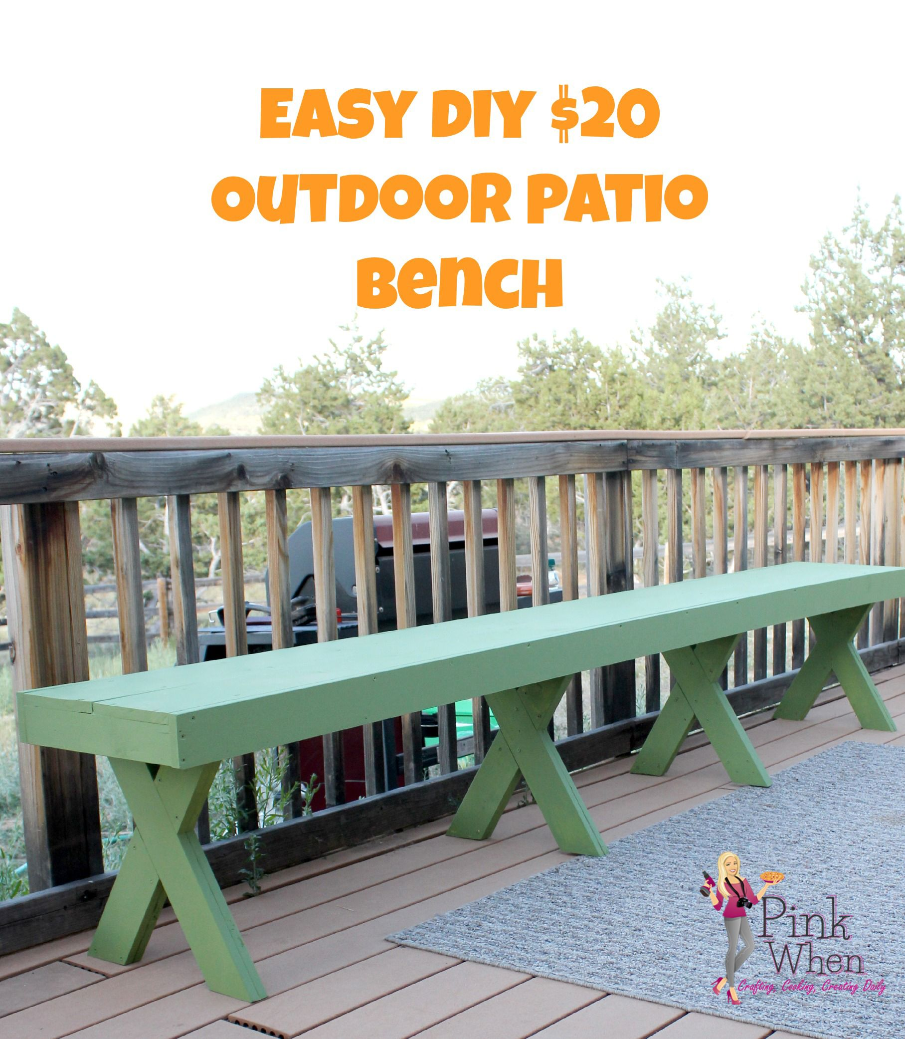 7 Affordable Landscaping Ideas For Under 1 000: Patio Bench, Diy Bench, Backyard