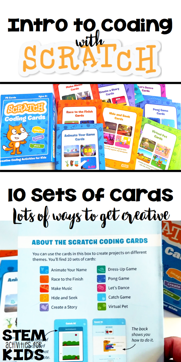 start programming with scratch coding cards stem activities for