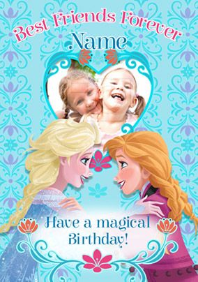 Brilliant Elsa And Anna Will Help You Wish Your Bestie A Happy Birthday Birthday Cards Printable Benkemecafe Filternl