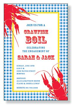 Crawfish Rehearsal Dinner Invitations Reception Ideas Pinterest