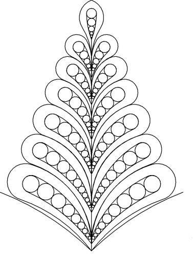 Vernas p2p feather cone 3   christmas crafts   Pinterest   Mandalas ...