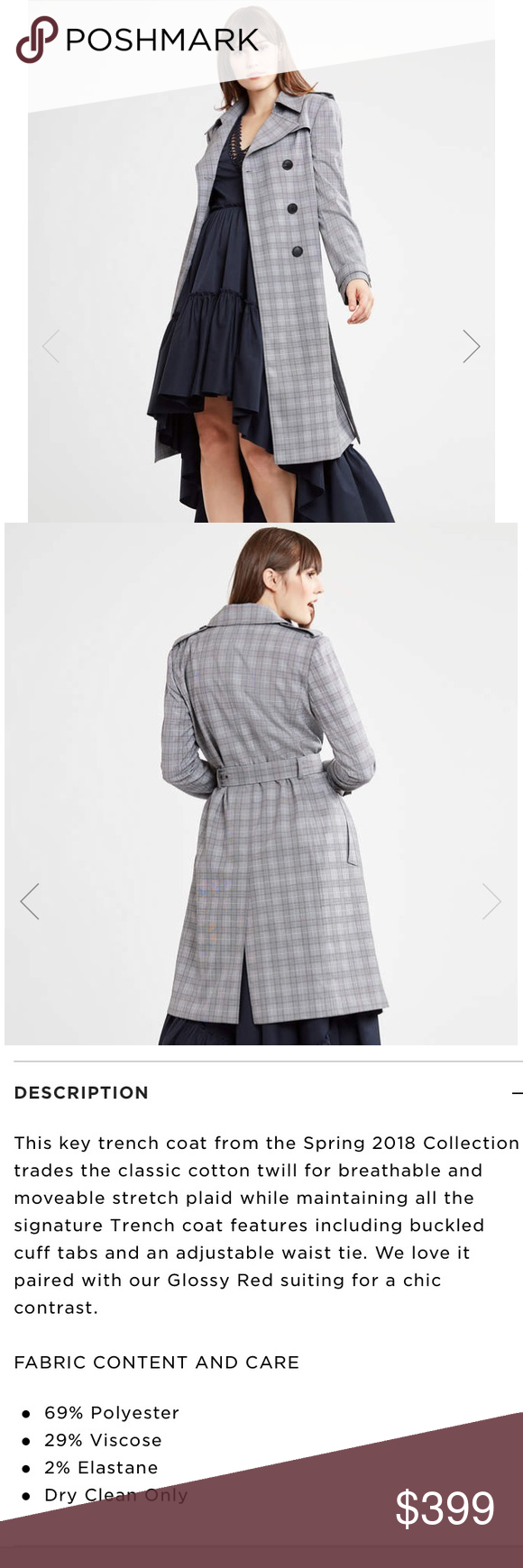 b0184dce63a98 Elie Tahari WATSON COAT Wore it once almost brand new No flows Elie Tahari  Jackets   Coats Trench Coats