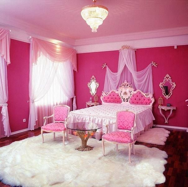 Pink princess bedroom. | Pink bedrooms, Pink room, Princess ...