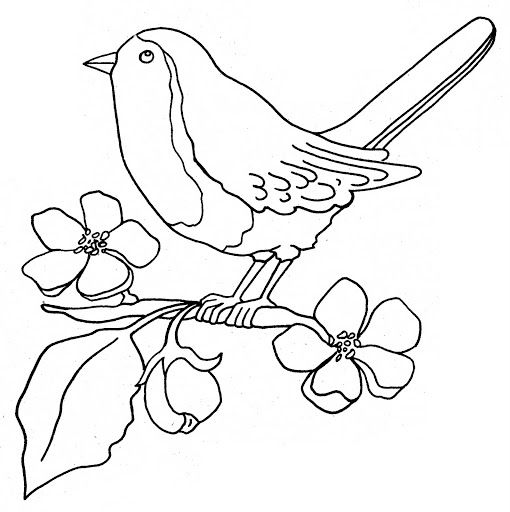 Imagenes De Dibujos De Pajaros Flower Drawing Bird Coloring Pages Line Drawing