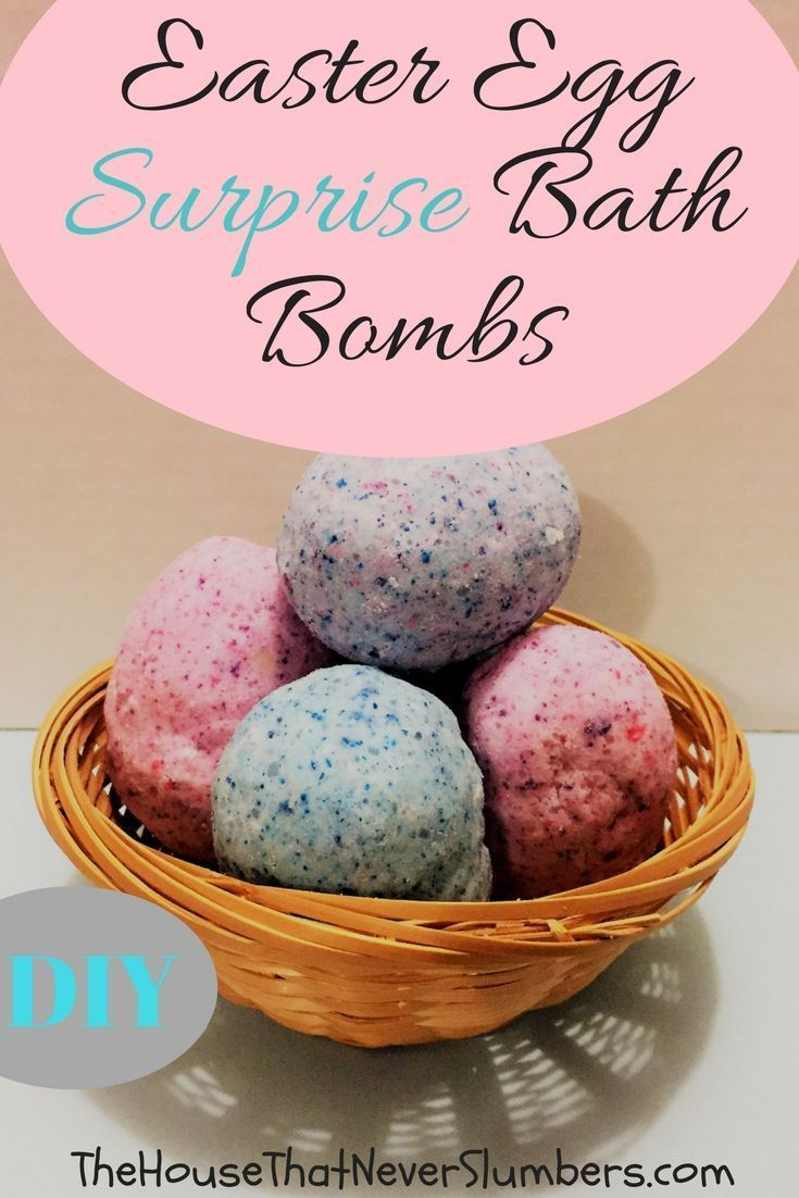 Easter Egg Surprise Bath Bombs DIY Video  The House That Never Slumbers Easter Egg Surprise Bath Bombs  They smell great and theyre super fizzy Plus theres a cool surpris...