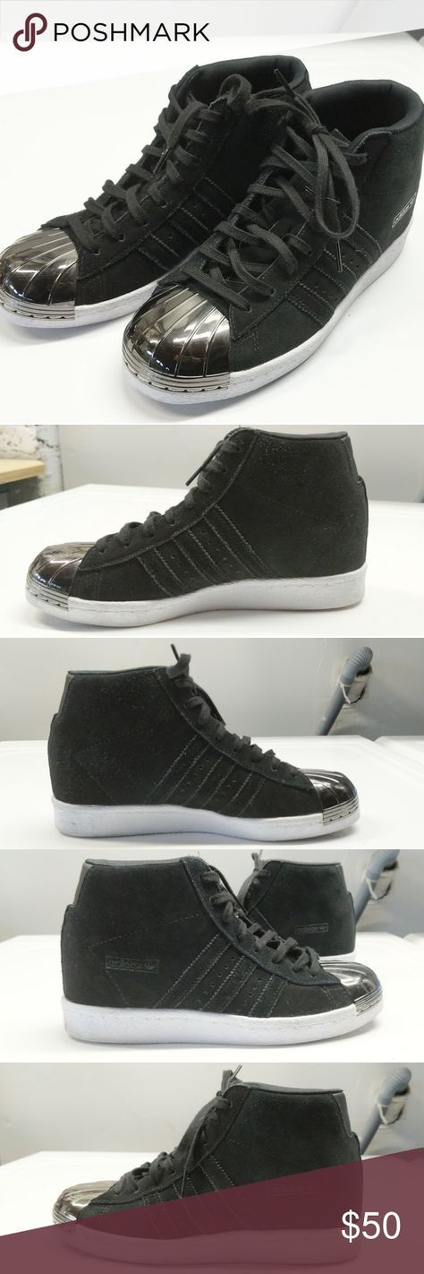 Adidas superstar black, Black shoes
