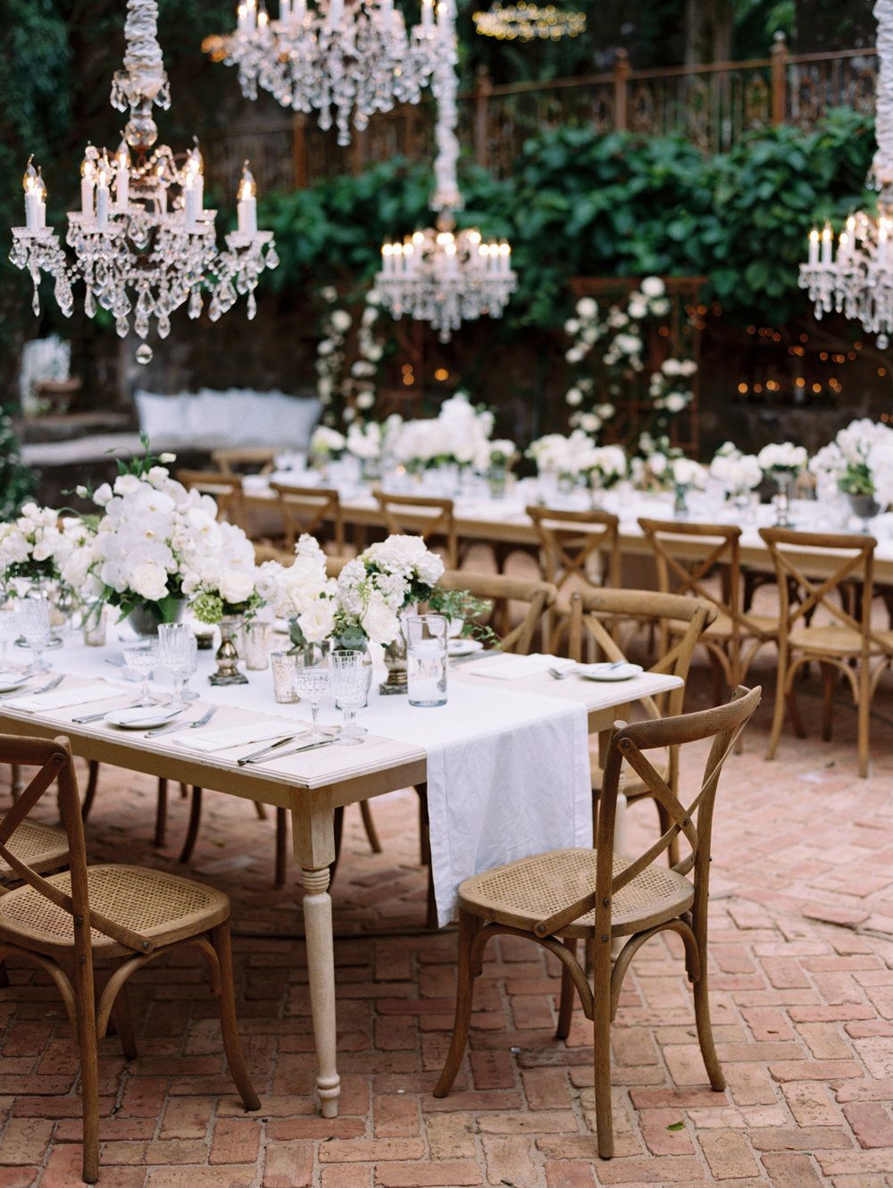 French Ivory Farm Tables — Signature Boutique Event