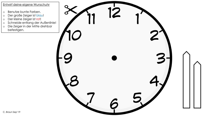 Bastelvorlage Uhr Unterrichtsmaterial Im Fach Mathematik In 2020 Basteln Anleitung Bastelvorlagen Uhr