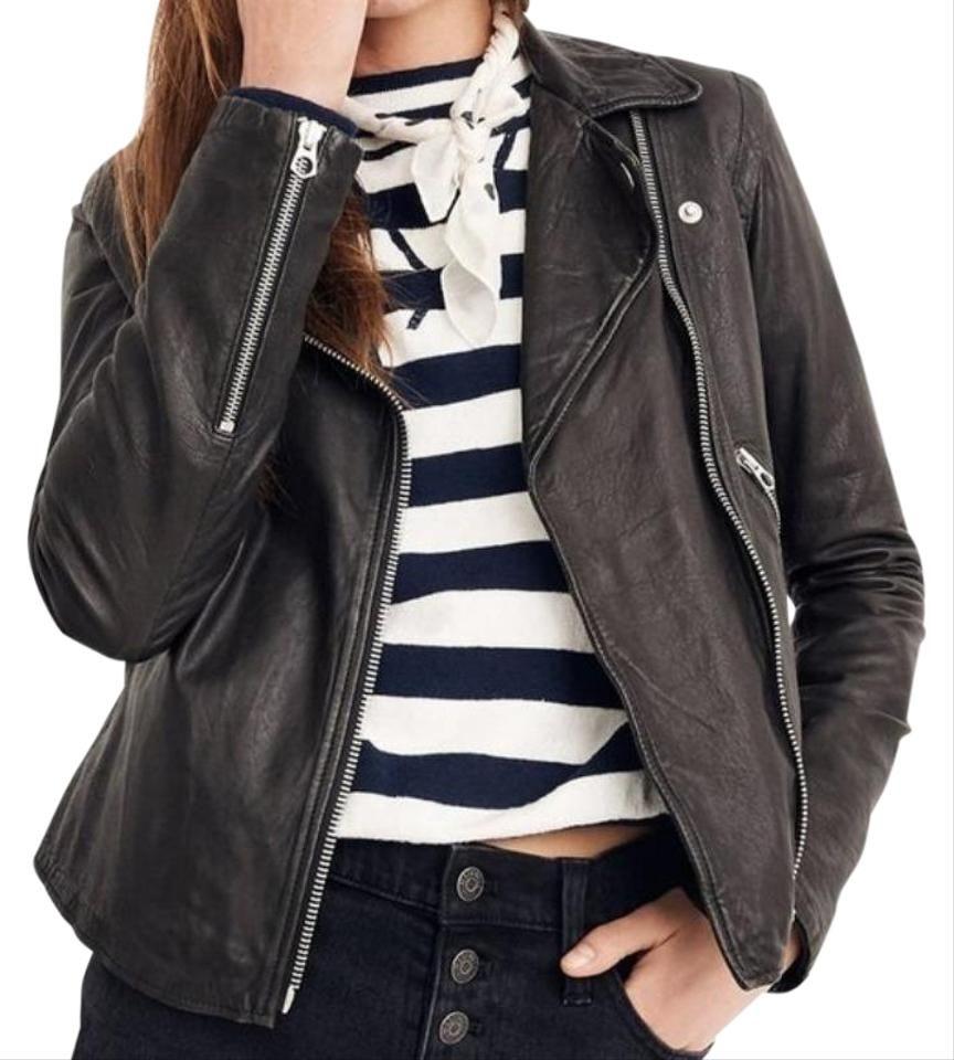 Madewell Black Washed Motorcycle Moto Jacket Size 00 Xxs Madewell Leather Jacket Best Leather Jackets Washed Leather [ 960 x 864 Pixel ]