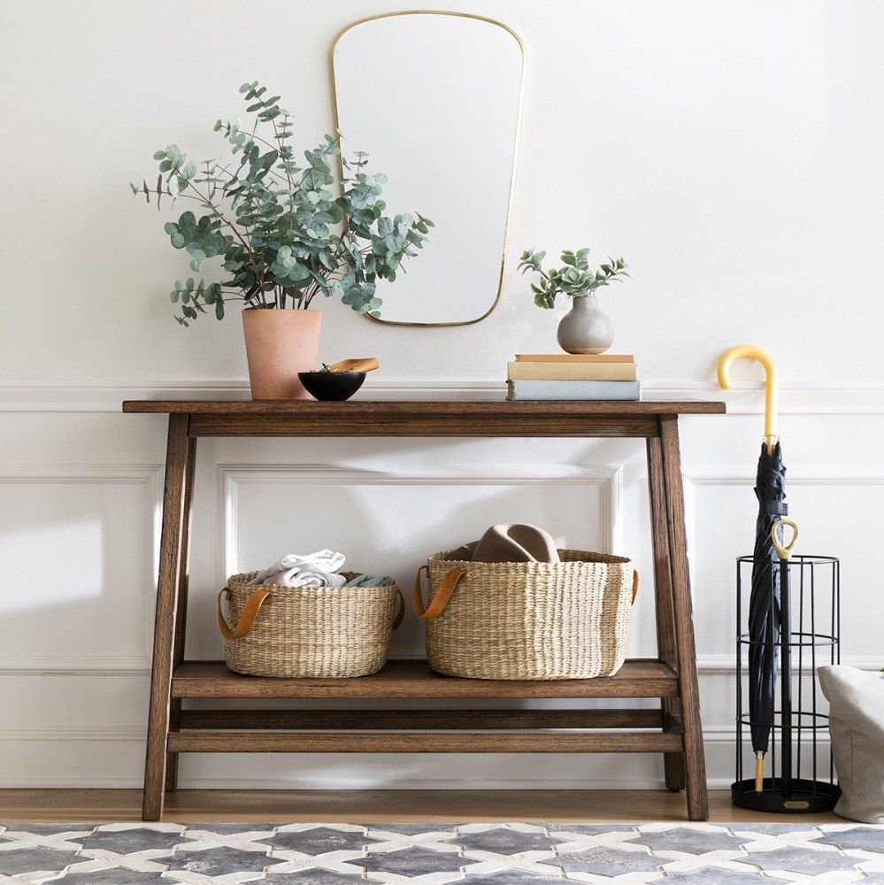 How To Decorate An All White Holiday Dinner Table With Lenox Wood Console Table Reclaimed Wood Console Table Wood Console