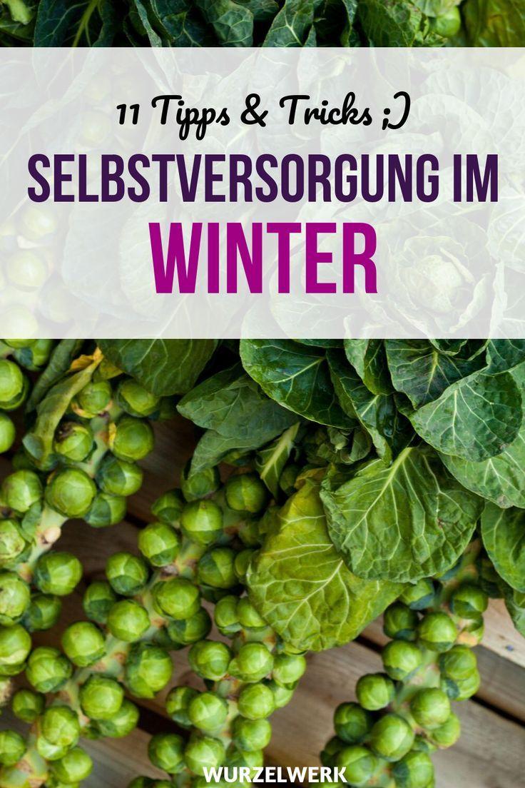 11 Tipps für die Selbstversorgung im Winter Wintervorrat-Checkliste
