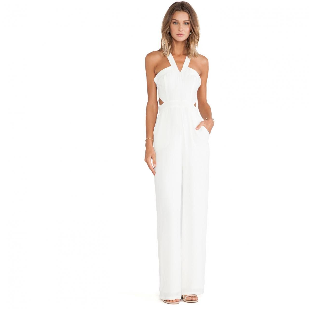 Olivia Palermo wearing Lovers + Friends Adore You Jumpsuit