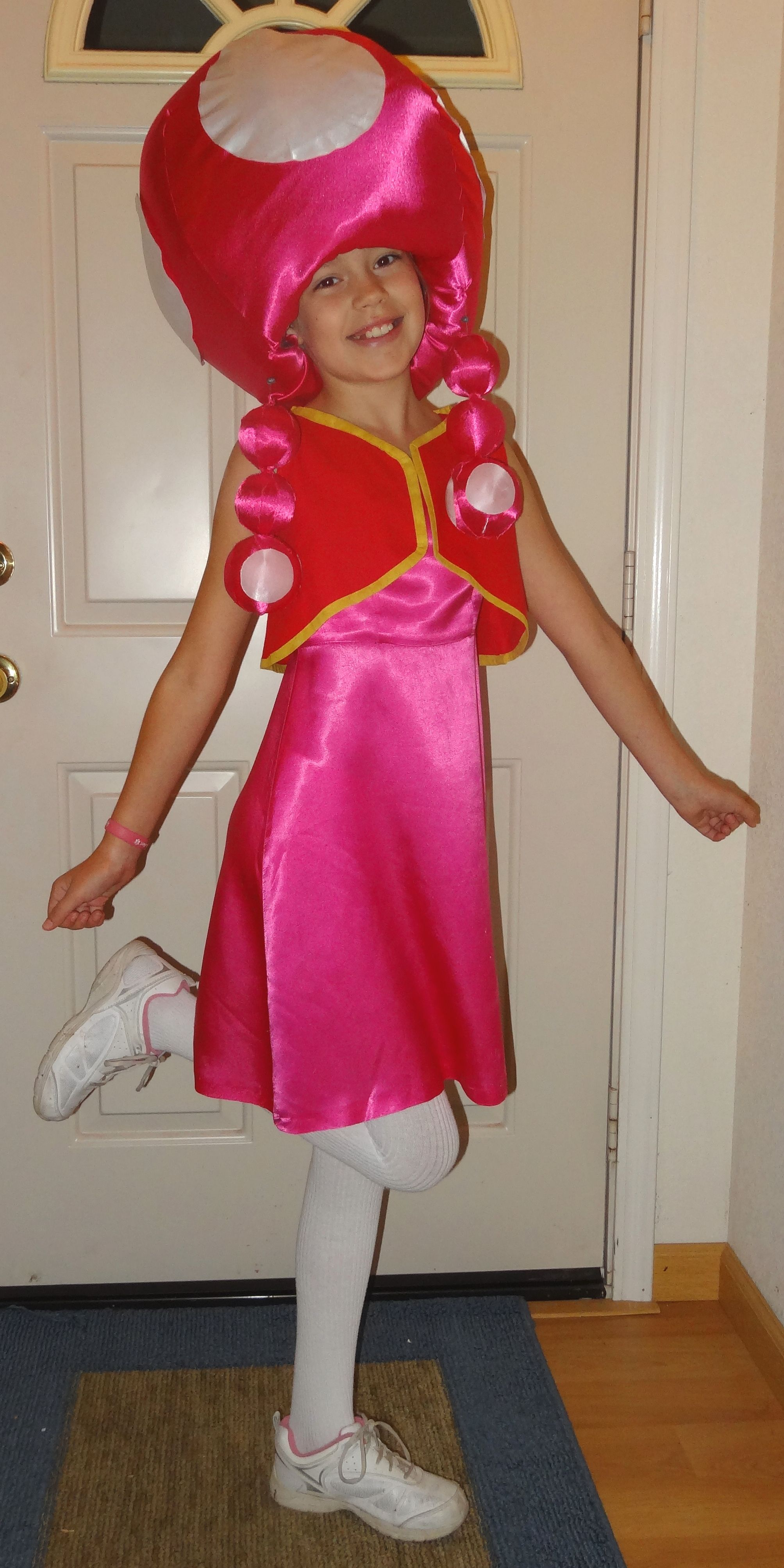 Toadette from Super Mario game costume. Head part made ...