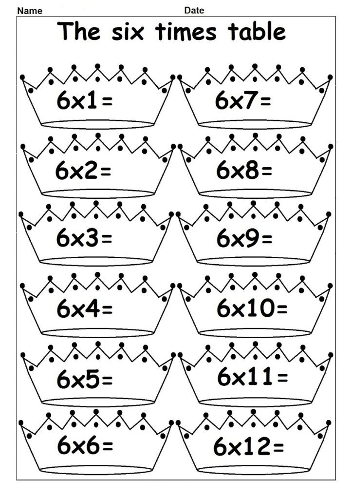 Printable Worksheets times tables worksheets free : 6 Times Tables Worksheets for Kids | Printable | Pinterest | Times ...