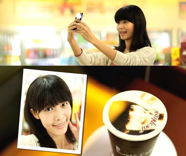 Taiwanese Coffee Machines Print Photos of Customers Onto Lattes