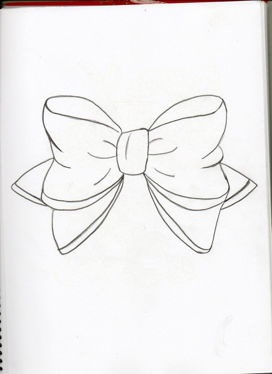bow drawing  Google zoeken  Tattoo  Pinterest  Bow drawing and