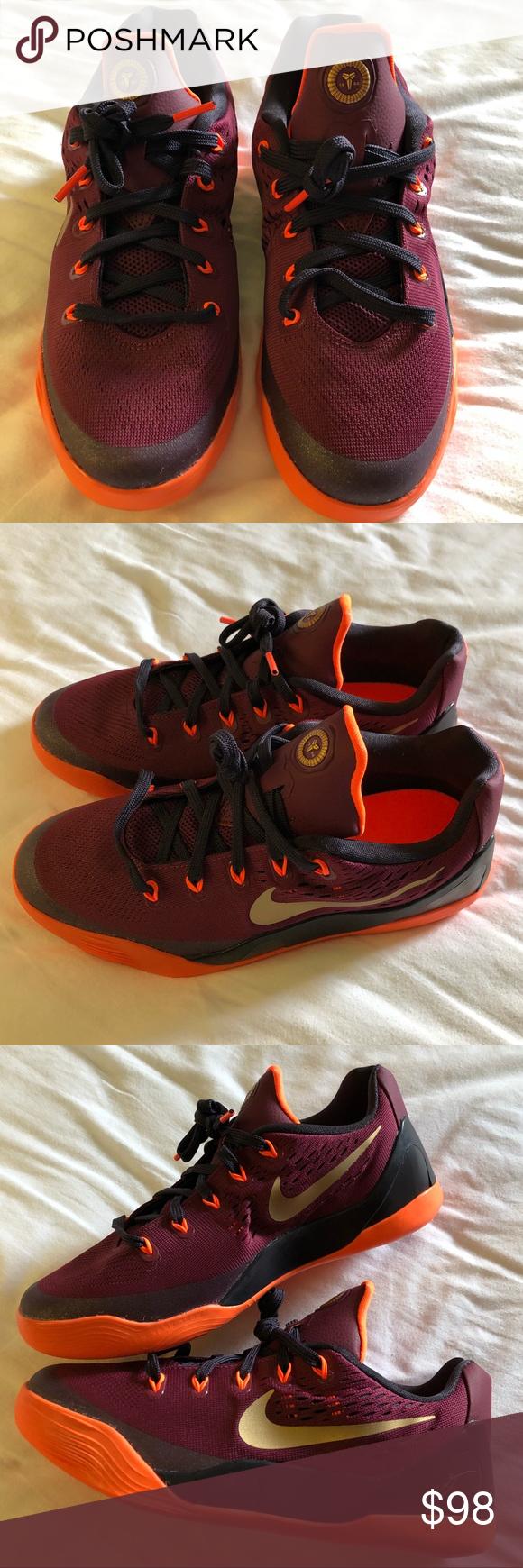 0db9b52e425 NWOT Nike kids Kobe IX Basketball shoes New Nike kids Kobe IX basketball  shoes deep garnet