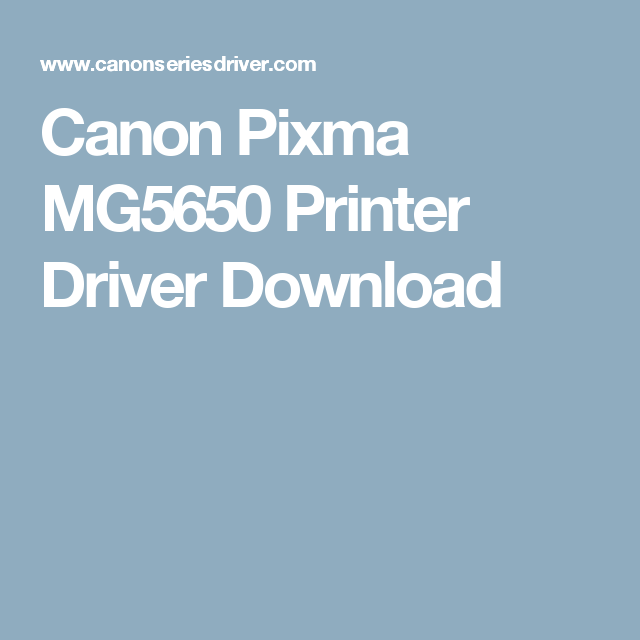 My printer скачать canon