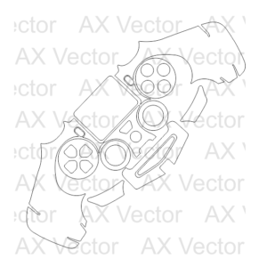 ps4 controller vector template vector pinterest templates ps4
