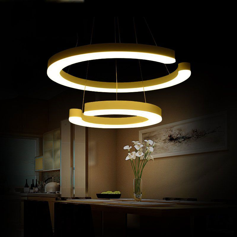 Dubbele ring 30 + 50 cm DIY verstelbare hanglamp, eetkamer woonkamer ...