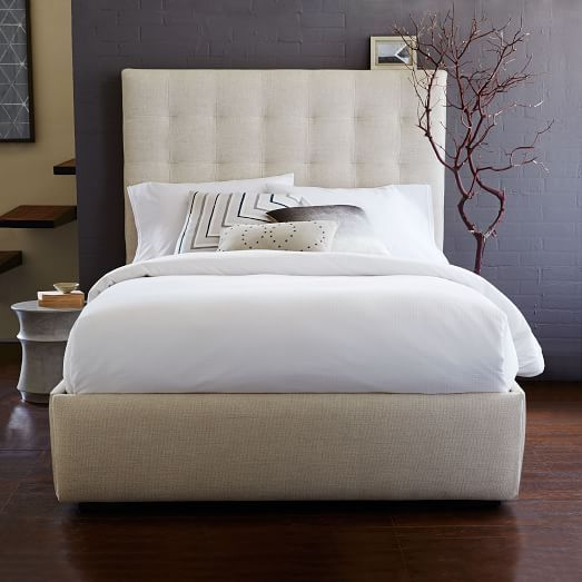Pivot Storage Bed Frame Oatmeal West Elm Bed Frame With