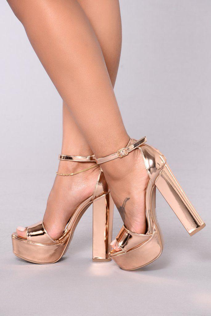 4e85acc78a Taller Than Life Heel - Rose Gold | Fashion Nova | Shoes | Rose gold ...