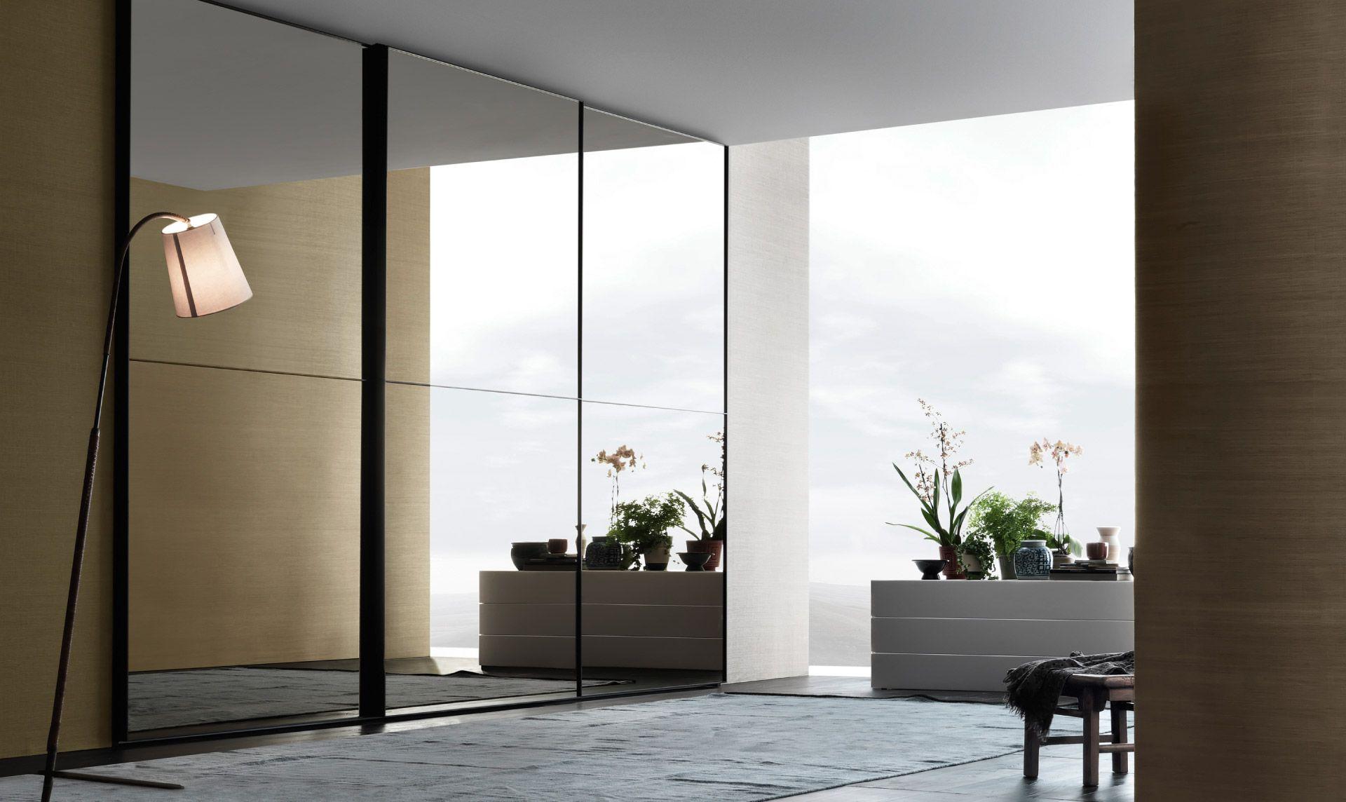 77 Maxisquare sliding doors; specchio bronzo Armadio