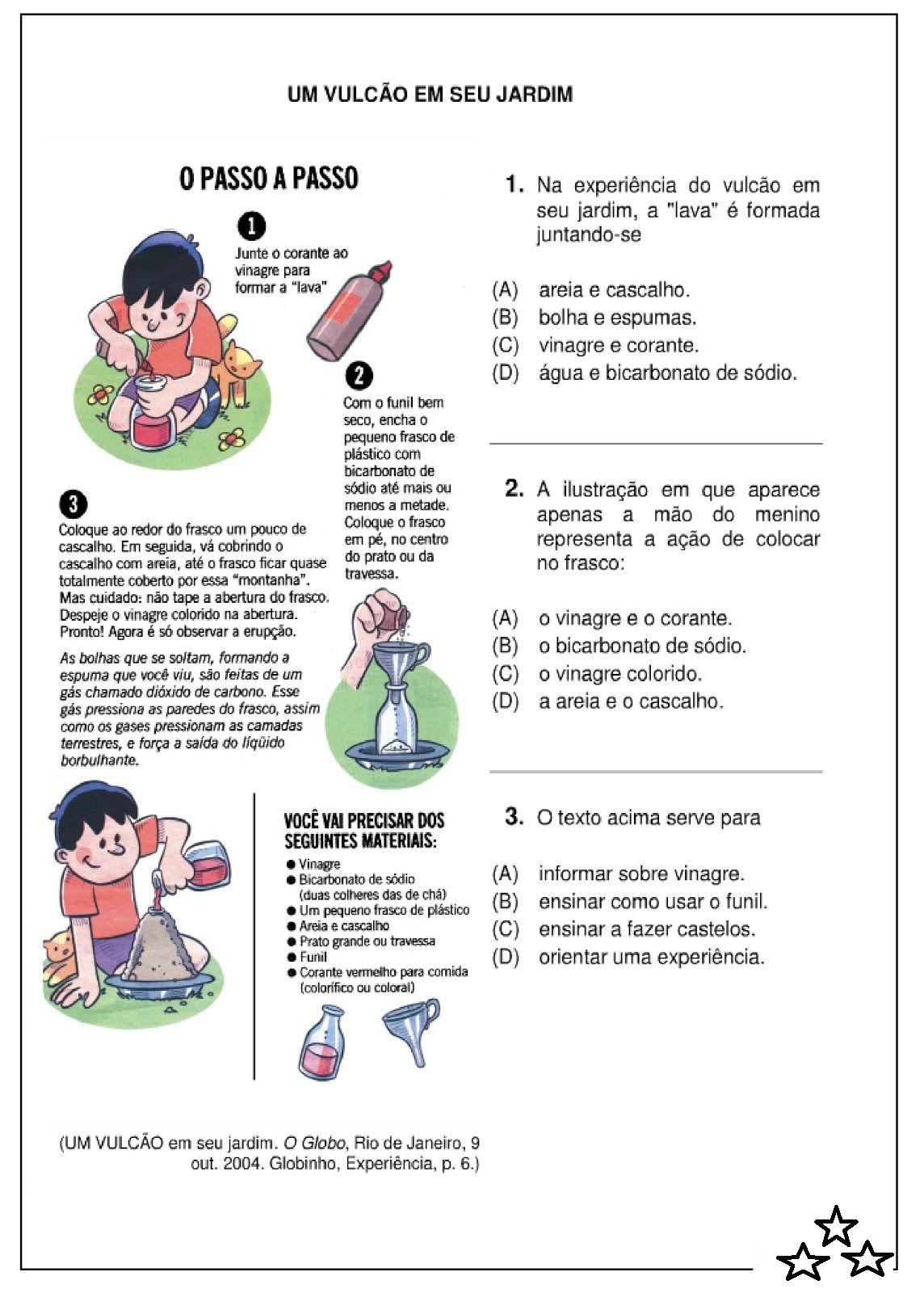 Resultado De Imagem Para Texto Instrucional Materia De Portugues
