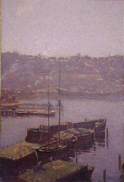 Percy Lindsay - Berry's Bay, Sydney