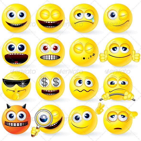 Cartoon Yellow Smileys Smiley Emoji Symbols Vintage Logo Design