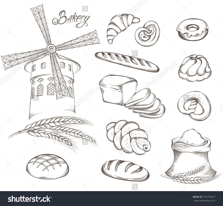 bread vector Buscar con Google Bakery icon, Drawing