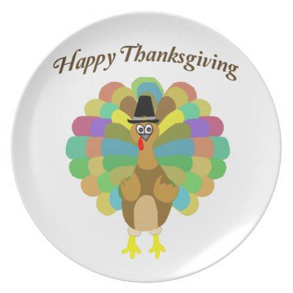 Happy Thanksgiving Melamine Plate - event gifts diy cyo events  sc 1 st  Pinterest & Happy Thanksgiving Melamine Plate - event gifts diy cyo events ...