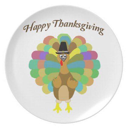 Happy Thanksgiving Melamine Plate   Thanksgiving Day Family Holiday Decor  Design Idea | Thanksgiving | Pinterest | Happy Thanksgiving