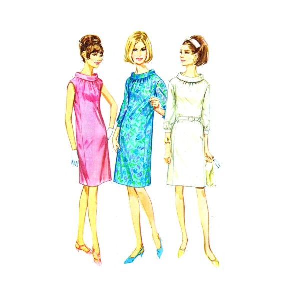 1960s Misses Princess Seamed Dress Simplicity 7099 Vintage Sewing ...
