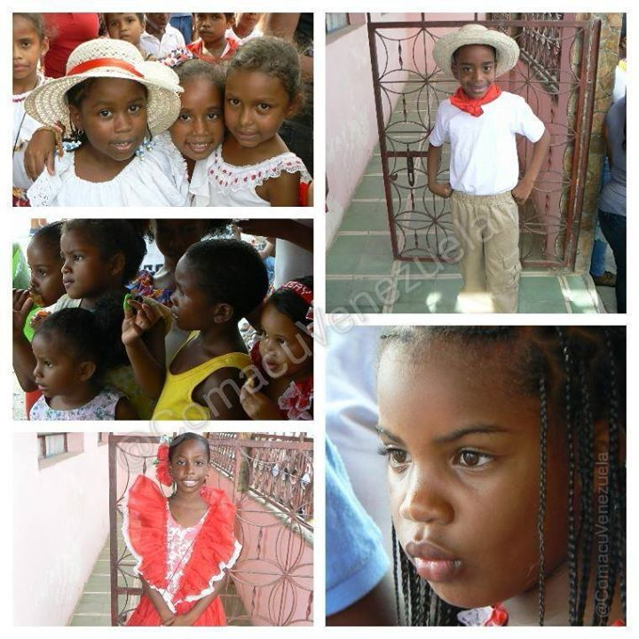 Las niñas y niños le agregan más brillo a nuestras manifestaciones culturales. Encierro de #SanJuan Bautista 25/06/2014. Lugar: #Tacarigua de Brión, estado #Miranda - #Venezuela #Cultura