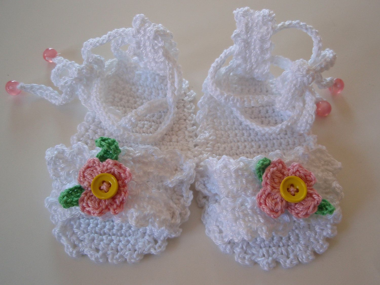 907d732bea324 free crochet baby patterns | PDF Pattern Crochet Baby Sandals 3/6 ...