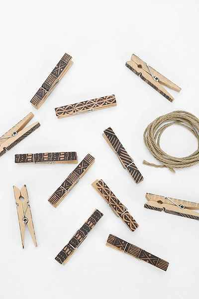 Clothespin Photo Clip String Set / Urban Outfitters