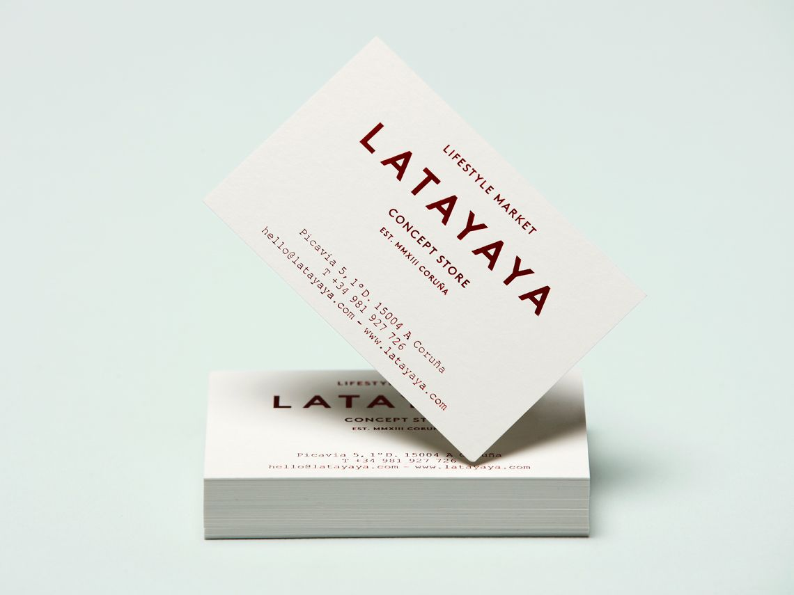 Brand identity and business cards for lifestyle market and concept ...